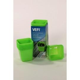Doniczki Vefi 6cm 30sztuk zielone