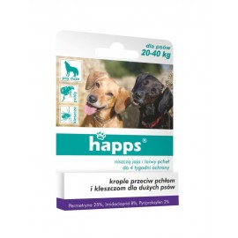 Happs krople przeciw pchłom i kleszczom, pies 20-40kg