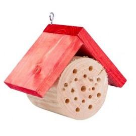 Domek dla pszczół okrągły czerwony