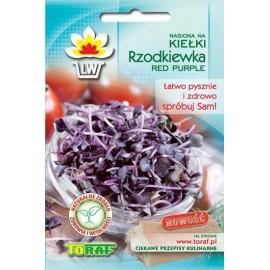 TORAF Rzodkiewka Red Purple na kiełki 10g