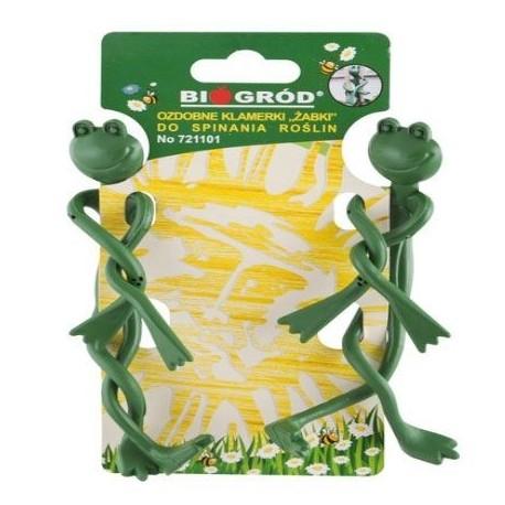 Ozdobne klamerki Żabki do spinania roślin 2szt