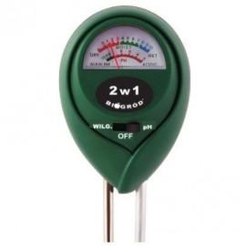 Tester podłoża 2w1 pH i wilgotność Biogród