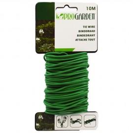 Drut powlekany 10m zielony