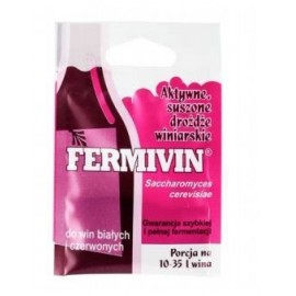 Drożdże winiarskie suszone aktywne Fermivin