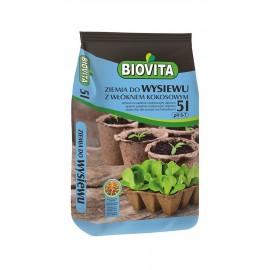 Ziemia do wysiewu z włóknem kokosowym 5l Biovita