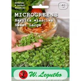 LG Microgreens Bazylia Sweet large 3g