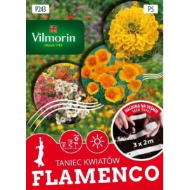 VIL Taniec Kwiatów Flamenco nasiona na taśmie 3x2m