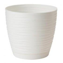 Doniczka sahara petit 19 biała z podstawką