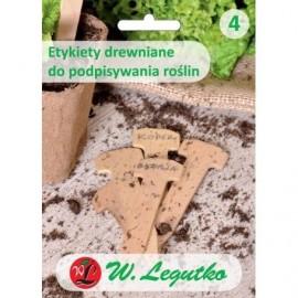 Etykiety drewniane do opisu roślin 5szt