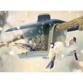 Karmnik dla ptaków BirdyFeed Double szary IBFD Prosperplast