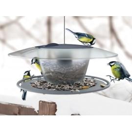 Karmnik dla ptaków BirdyFeed Round szary IBFR Prosperplast