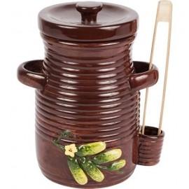 Garnek ceramiczny na ogórki ze szczypcami 3l 770203