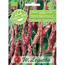 LG Fasola tyczna szparagowa Borlotto lingua di fuoco 3 BIO 30g
