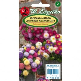 Legutko Aster na kwiaty cięte mix 1g