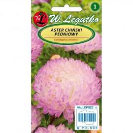 Legutko Aster peoniowy biało-różowy 1g