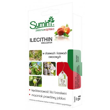 Lecithin Emulgator 6g zwalcza choroby drzew i krzewów owocowych Sumin