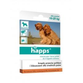 Happs krople przeciw pchłom i kleszczom, psy 10-20kg